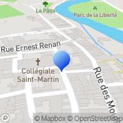 Carte de Domaine Laroche S.A. Chablis, France