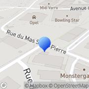 Carte de Clamouse S.A.R.L. Montpellier, France