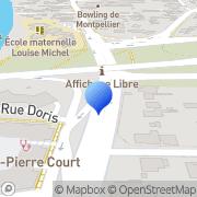 Carte de C.R.C.I. Languedoc Roussillon - Chambre Régionale de Commerce et d'Industrie Languedoc Roussillon Montpellier, France