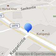 Kartta Keski-Karjalan 4H-yhdistys Kitee, Suomi