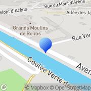 Carte de Grands Moulins de Reims S.A. Reims, France
