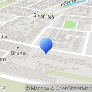 Kaart Bruna Oude-Tonge, Nederland