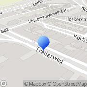 Kaart Rooduijn Drukkerij Den Haag, Nederland