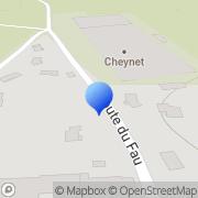 Carte de Cheynet S.A. Saint-Just-Malmont, France