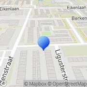 Kaart Muije R Spijkenisse, Nederland