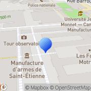 Carte de Géfom S.A. Saint-Étienne, France