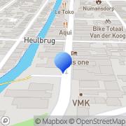 Kaart Edel Boek- en Kantoorvakhandel Numansdorp, Nederland