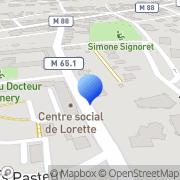Carte de Famaro S.A. Lorette, France