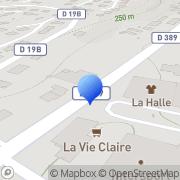 Carte de Secam S.A. L'Arbresle, France