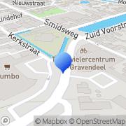 Kaart Bruna Postkantoor 's-Gravendeel, Nederland