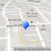 Kaart Admiraal Coiffures Piet Egmond aan Zee, Nederland