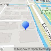 Kaart Verloop drukkerij Alblasserdam, Nederland