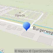 Kaart Slijkerman Bloembollenkwekerij Wil Burgerbrug, Nederland