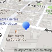 Carte de Dulauroy Zimmer S.A.R.L. Charleville-Mézières, France