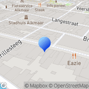Kaart Ibink Juweliers-Diamantairs-Taxateurs Alkmaar, Nederland