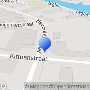Kaart Kater Kampeer-Surf- en Wintersport Alkmaar, Nederland