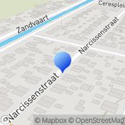 Kaart Blaauw Klussenbedrijf C Breezand, Nederland