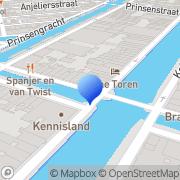 Kaart Frontier Bookshop Amsterdam, Nederland