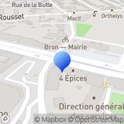 Carte de Aquatec Bron, France