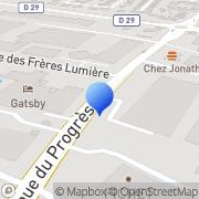 Carte de Fichet S.A. Chassieu, France