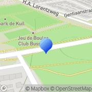 Kaart Jeu de Boules Club Bussum Bussum, Nederland