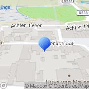 Kaart Fleurie Groen- en Bloemwerk De Geldermalsen, Nederland