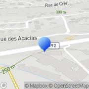 Carte de Etablissement Drevet et Compagnie S.A. Voiron, France
