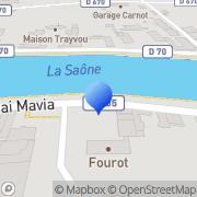 Carte de Bergelin S.A. Gray, France