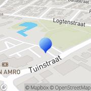 Kaart  Verbeco Garagedeuren BV Asten, Nederland