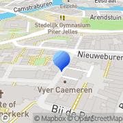 Kaart Lektuurhal Friesland Leeuwarden, Nederland