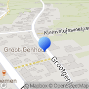 Kaart Schumans Technisch Bureau Groot Genhout, Nederland