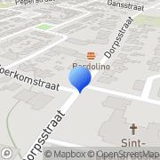Kaart Laak Dames- en Herenkapsalon A Th L vd Oosterhout, Nederland