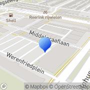 Kaart Berg Chemische Wasserij K vd Arnhem, Nederland