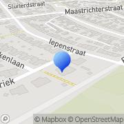 Kaart Dieteren Klussenbedrijf A M Brunssum, Nederland