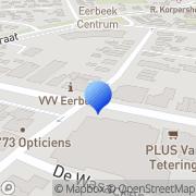 Kaart Hendriks Boek- en Kantoorboekhandel Eerbeek, Nederland