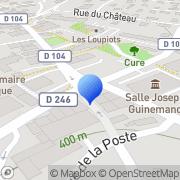 Carte de Bonnefoy S.A. Saône, France