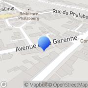 Carte de D.R.C.E. - Direction Régionale du Commerce Extérieur Nancy, France