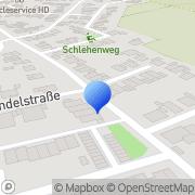 Karte Zeitarbeit Brüggen, Deutschland