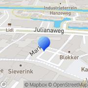 Kaart Schouten Lederwaren & Bijouterie Elly Lochem, Nederland