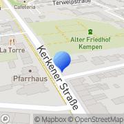 Karte Grabmale Manfred Messing Kempen, Deutschland