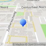 Kaart Patent Schildersbedrijf Roden, Nederland