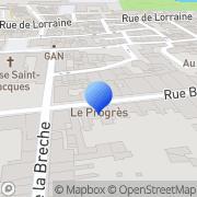 Carte de Crouvizier S.A. Lunéville, France