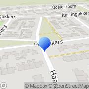 Kaart Media Expresse A Kooi Peize, Nederland