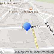 Karte Waffen Dinslaken, Deutschland
