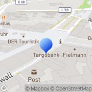 Karte PŸUR Shop Duisburg, Deutschland