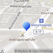 Karte GEERS Hörgeräte Essen, Deutschland