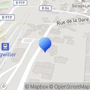 Carte de Courriers Automobiles S.A. - Anciennement Mugler et Compagnie Ingwiller, France