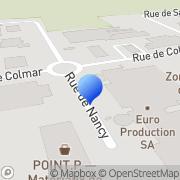 Carte de Euro Production S.A. Hésingue, France