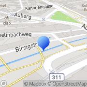 Karte Schetty Basel, Schweiz