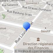 Carte de Deutsche Bank A.G. Strasbourg, France